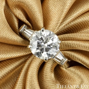 Tiffany & Co. Three Stone Engagement Ring 2.10ct E/VS1